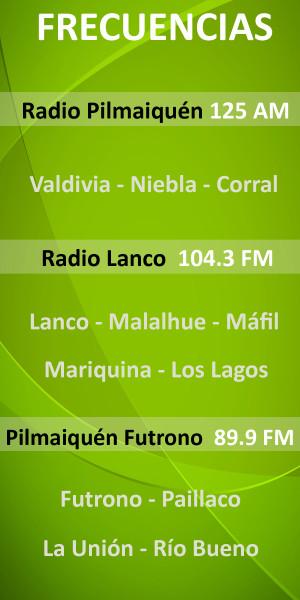 Banner Frecuencias Radio Pilmaiquen 2